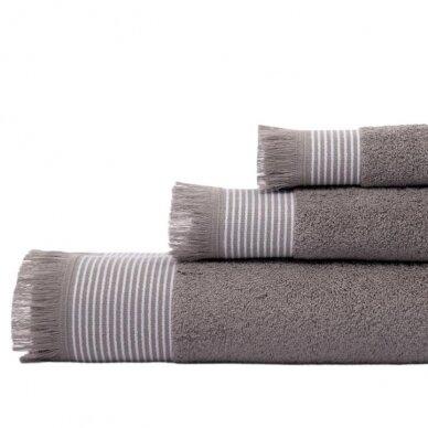 Medvilninis rankšluostis CORDOBA grey
