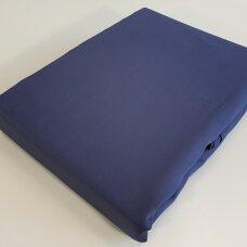 Satino paklodė su guma DARK BLUE