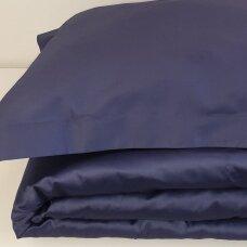 Satino patalynės komplektas DARK BLUE