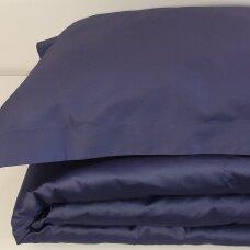 Satino užvalkalai pagalvėms DARK BLUE