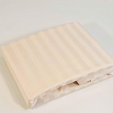 Satino paklodė su guma KREMINĖ 2 cm juostelėmis