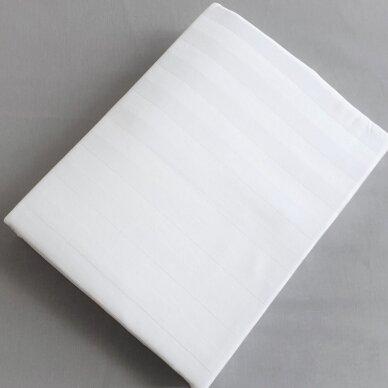 Satino paklodė su guma BALTA 2 cm juostelėmis 2