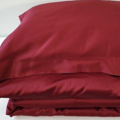 Satino užvalkalai pagalvėms RUBY WINE